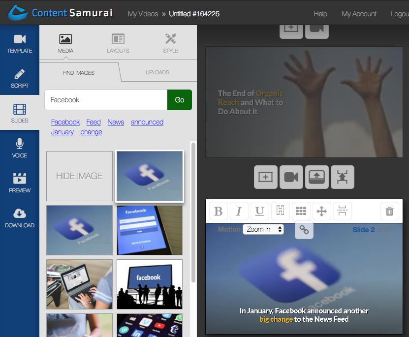Content Samurai slide editor