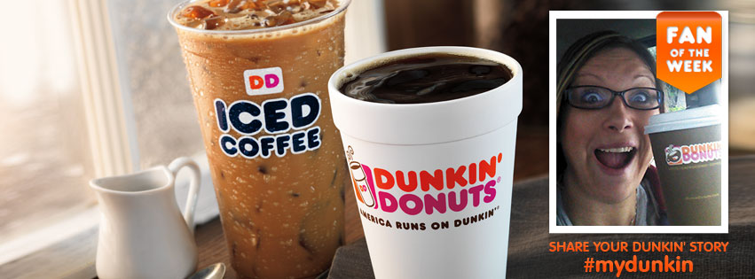 Dunkin Donuts Facebook Cover Image showcases a Fan's photo