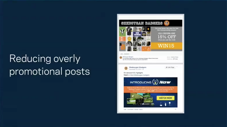 Overly Promotional Posts from Facebook f8 talk